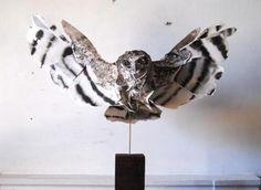 Paper Owl Sculpture