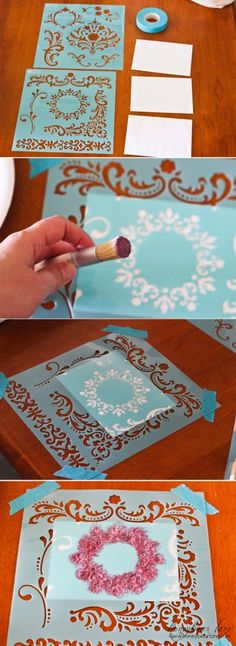 beginners guide to stencils.Stensiled alot its very enjoyable