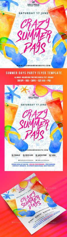 Summer Flyer Summer and Food - summer flyer template