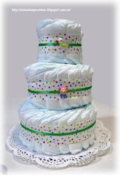 tarta de pañales  pañales artesanal