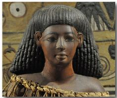Kha's statuette, found on his high-backed chair. Ca. 1350 BC. Egyptian Museum, Turin.