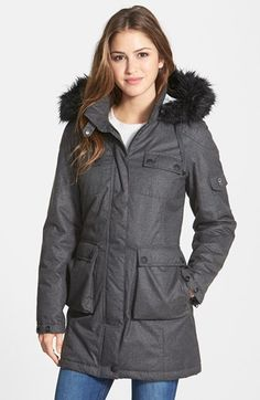 1 Madison Faux Fur Trim Parka available at #Nordstrom