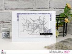 "Australe : Tampons & matrices de coupe (dies) #4enscrap ""Ville"" Tampons, Card Ideas, Birthday Cards, Card Making, Paper Crafts, Scrapbook, Paris, London, Diy"