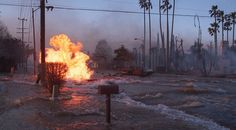 Northridge 1994, I was there. Gas & Water mains run out of control for 4 days. Be prepared, pick you gear well, keep it stocked and current, and practice you evacuation and survival skills.