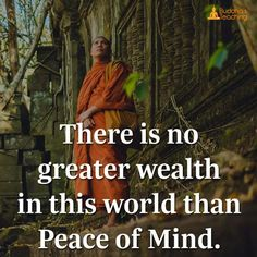 There is no greater wealth in this world than peace pm mind.