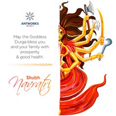 Team, Antworks Money wishes you and your family a blessed Navaratri. Durga Maa, Durga Goddess, Gud Morning Wishes, Investment In India, Indian Illustration, Ganesh Wallpaper, Happy Navratri, Festival Celebration, Indian Festivals