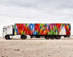 The Truck Art Project by @suso33 #trucks #abstract #colors #colorful #wallart #trucks #instapic #instalike #instadaily #design #desert #unique #like4like #art