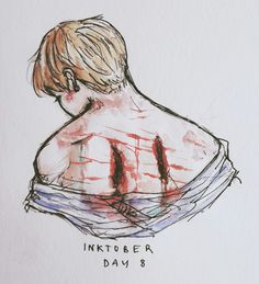 """""""People hate what they don't understand."""" Inktober/Goretober Day 9: cuts/bruises"""