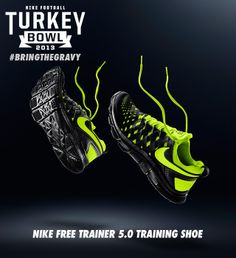 Gear up with the Nike Free Trainer 5.0 Training Shoe. http://www.dickssportinggoods.com/family/index.jsp?categoryId=12996961 #bringthegravy