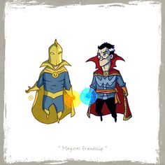 Ever find yourself wondering who in the DC and Marvel universes woud be best friends? So did artist Darren Rawlings with his Little Friends series of drawings. It's like that DC vs. Marvel event from the only tiny and cute. Dc Comics Vs Marvel, Marvel Heroes, Comic Book Characters, Comic Books Art, Book Art, Marvel And Dc Crossover, Dr Fate, Comic Movies, Comics Universe