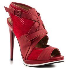 Qupid Alina Red Pu Women Shoes