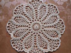 Round crochet doily by kroshetmania on Etsy, $5.00