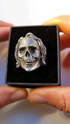 Huge collection of Custom Hand Carved Skull Rings and custom handcrafted Pendants by Rebelsupreme. The finest skull rings & Pendants done with old world craftsmanship. Mens Skull Rings, Mens Gear, Hand Carved, Rings For Men, Handmade Jewelry, Pendants, Jewellery, Silver, Clothes