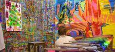 jeu de peindre -Des ateliers aussi pour les adultes ! Art Classroom, Classroom Organization, Arno Stern, Street Art, Art For Kids, Therapy, Palette, Studio, Paper
