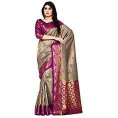 Buy MIMOSA Women's Tussar Silk Kanjivaram Style Saree (4914-2728-2D-RN-GR, Pink) at Amazon.in Tussar Silk Saree, Art Silk Sarees, Green Fabric, Abstract Print, Sari, Beige, 2d, Amazon, Blouse