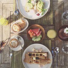 Bisma breakfast  #breakfast #bismaeight #brunch #waffle #bali #ubud #travel @bismaeight by misscharjay