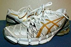 cc8412545 WOMENS ASICS GEL KINSEI 5 RUNNING SHOES GOLD SILVER BLACK SIZE 7 T3E9Y   fashion