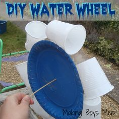 Make a water wheel - need: paper plates, plastic cups, skewers, tape, jug of water to test it when finished. Preschool Science, Teaching Science, Science For Kids, Science Activities, Educational Activities, Activities For Kids, Crafts For Kids, Science Centers, Teaching Themes