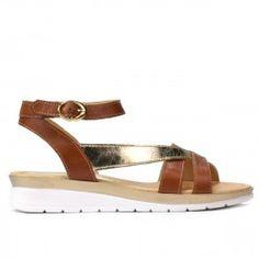 Sandale dama 5060 maro combinat Gladiator Sandals, Espadrilles, Fii, Shoes, Products, Fashion, Espadrilles Outfit, Moda, Zapatos