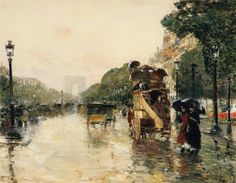 Champs Elysees, Paris, 1889  Childe Hassam