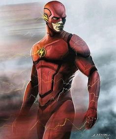 The Flash by Aaron Randall! - Photo courtesy of @dccomicsfinest