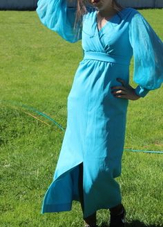Kup mój przedmiot na #vintedpl http://www.vinted.pl/damska-odziez/dlugie-sukienki/13863311-blekitna-suknia-amerykanska