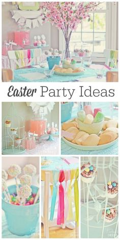 Gorgeous Easter party done in beautiful pastel spring colors! Love the birdie cookie decorating! See more party ideas at http://CatchMyParty.com.