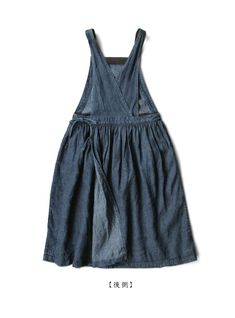 Sewing Clothes, Diy Clothes, Diy Fashion, Fashion Dresses, Unisex Clothes, Japan Outfit, Apron Dress, Fashion Design Sketches, Pinafore Dress