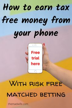 How you can earn tax free, risk free profits from matched betting. How to access a free matched betting trial. Earn using just your phone. Free Cash, Tax Free, Free Money, Matched Betting, Starting School, Online Income, Lost Money, Casino Bonus, Book Making