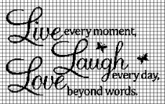 LIVE LAUGH LOVE Graphghan Pattern - via @Craftsy