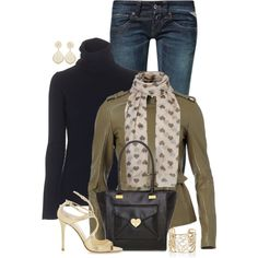 """Ah-love (olive) heart"" by hollyhalverson on Polyvore"