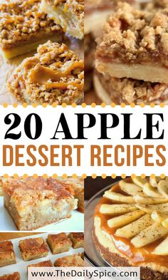 Best Apple Desserts, Apple Dessert Recipes, Fruit Recipes, Desert Recipes, Apple Recipes, Fall Recipes, Sweet Recipes, Baking Recipes, Delicious Desserts