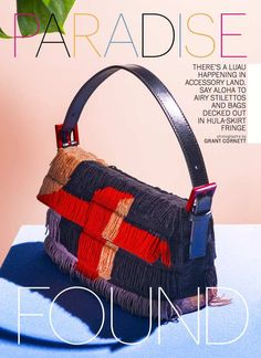 FENDI fringe bag Tropical accessories story by Kyle Anderson May Marie Claire