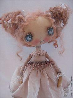Купить Марта - бежевый, винтаж, состаренная игрушка, авторская ручная работа, авторская кукла, кукла