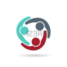 Collaboration community people group. graphic design