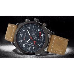 Military Leather CURREN Luxury 8152 Men s Quartz Sport Watch - OPSGEAR®  Relojes abbd1b8be218