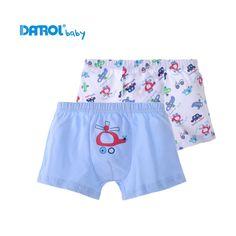 Boys Underwear 2 Pcs / Lot 100% Cotton  Boxer Briefs Kids Panties Lovely Cartoon Panties Children's Underwear