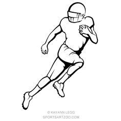 American Football Running Back — SportsArtZoo Football Run, Cowboys Football, Football Players, Football Stuff, Football Player Drawing, Boy Sketch, Free Vector Clipart, Running Back, Sports Art