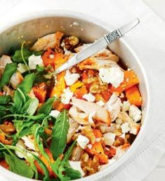Bataatti-kanasalaatti | Salaatit | Kodin Kuvalehti Easy Delicious Recipes, Yummy Food, Healthy Recipes, Healthy Food, Food Challenge, My Cookbook, Vegetable Sides, Yams, Desert Recipes