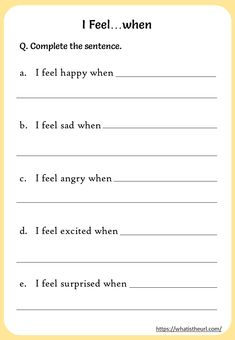 """Printable """"I Statements"""" worksheets - Your Home Teacher Self Esteem Worksheets, Counseling Worksheets, Self Esteem Activities, Feelings Activities, Therapy Worksheets, Counseling Activities, Worksheets For Kids, Communication Skills Activities, Counseling Teens"""