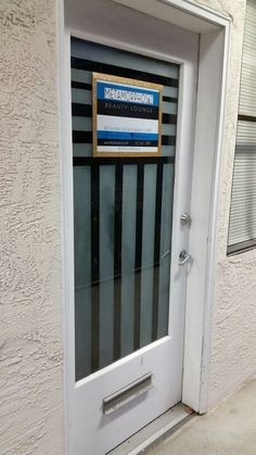 Spa/ Photo Studio: Striped Window Frost Facial Room, Scalp Micropigmentation, Beauty Lounge, Facials, Bridal Makeup, Photo Studio, Eyebrow, Frost, Locker Storage