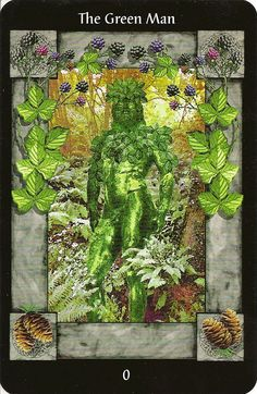 Eno's Tarots: The Sacred Circle Tarot - The Green Man (= 0 The Fool)