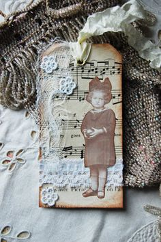 sweet tag; {good way to use vintage photos I have.}