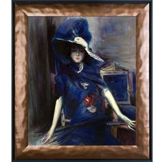 Tori Home The Divine in Blue by Giovanni Boldini Framed Painting
