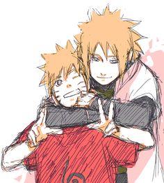 Minato and Naruto fan art | Minato & Naruto x3 - Minato Namikaze Fan Art (30798038) - Fanpop ...