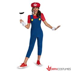 Girls Fancy Dress Costumes: Even girls love Mario bros! How can anyone not love the little Italian plumber? He is such a dude! When you have to save the world and beat the baddies you need a cool pair of dungarees, and exactly that!