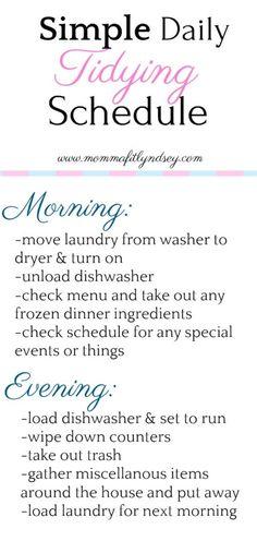 home organization ideas for decluttering #diy #homeorganization #printable #schedule
