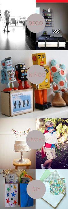 blog de decoración, fiestas infantiles, niños, DIY. chulo chulo. Blog, Diy, Party Ideas, Parties Kids, Crafts, Bricolage, Blogging, Ideas Party, Do It Yourself