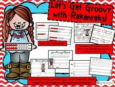 HUGE 70 page packet on Rekenreks! Over 50 flashcards, stations, games, journal sheets, story problems, and blanks to use over and over!