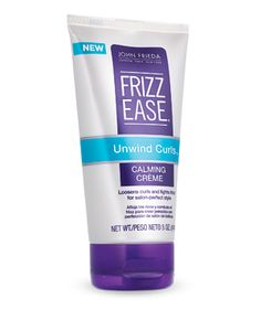 Frizz Ease - Unwind Curls. Calming creme.  Loosens curls into loose soft waves and tames frizz. $7.